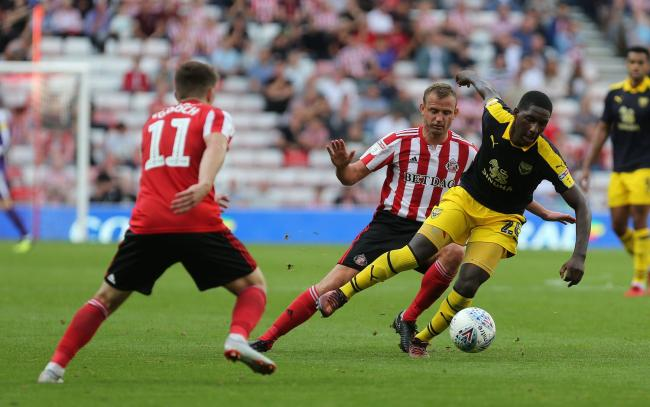 Shandon Baptiste takes on Sunderland during Oxford United's 1-1 draw at the Stadium of Light last September Picture: Richard Parkes