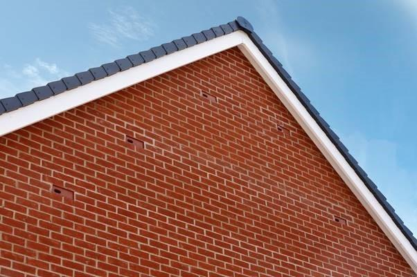 An example of swift bricks used at a Barratt Home