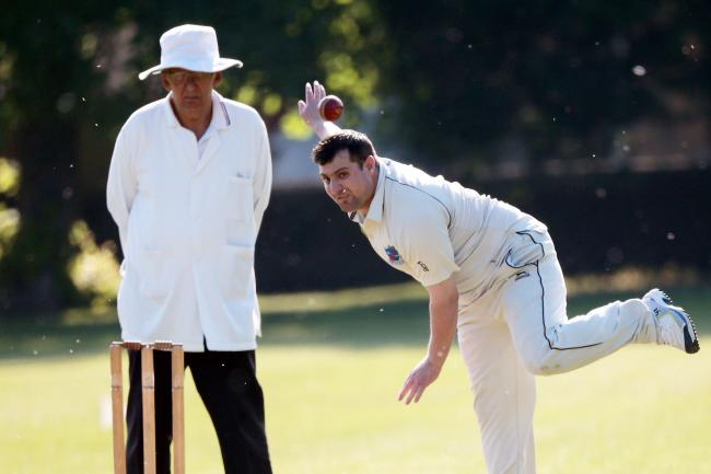 Rehman Ullah returned figures of 5-4 as Westcott bowled Faringdon out for just 22    Picture: Ric Mellis