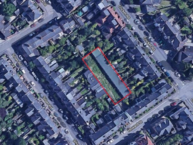 Howard Street garages highlighted in red. Picture via Google Maps