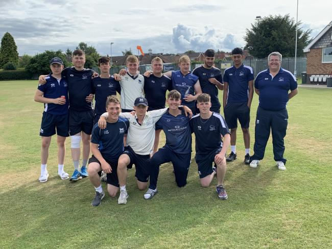 Oxfordshire Under 17s celebrate their win over Shropshire