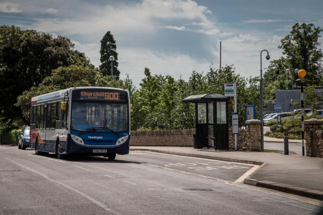 A Stagecoach bus heads to the Churchill Hospital Picture Oxford Mail