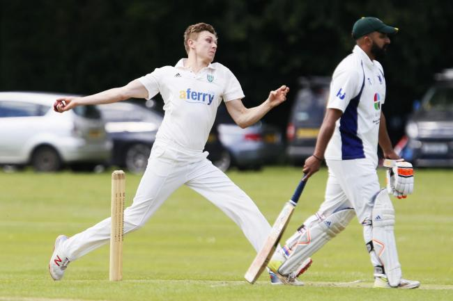 Oxfordshire and Abingdon Vale seamer Joe Butcher finished with match figures of 8-82 against Wales Picture: Ed Nix