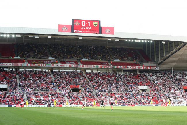 The Oxford support, in the second tier of The Stadium of Light - Pic by Richard Parkes