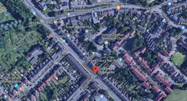thisisoxfordshire: The crash happened at the Oxford Road and Littlehay Road junction in Cowley, Oxford