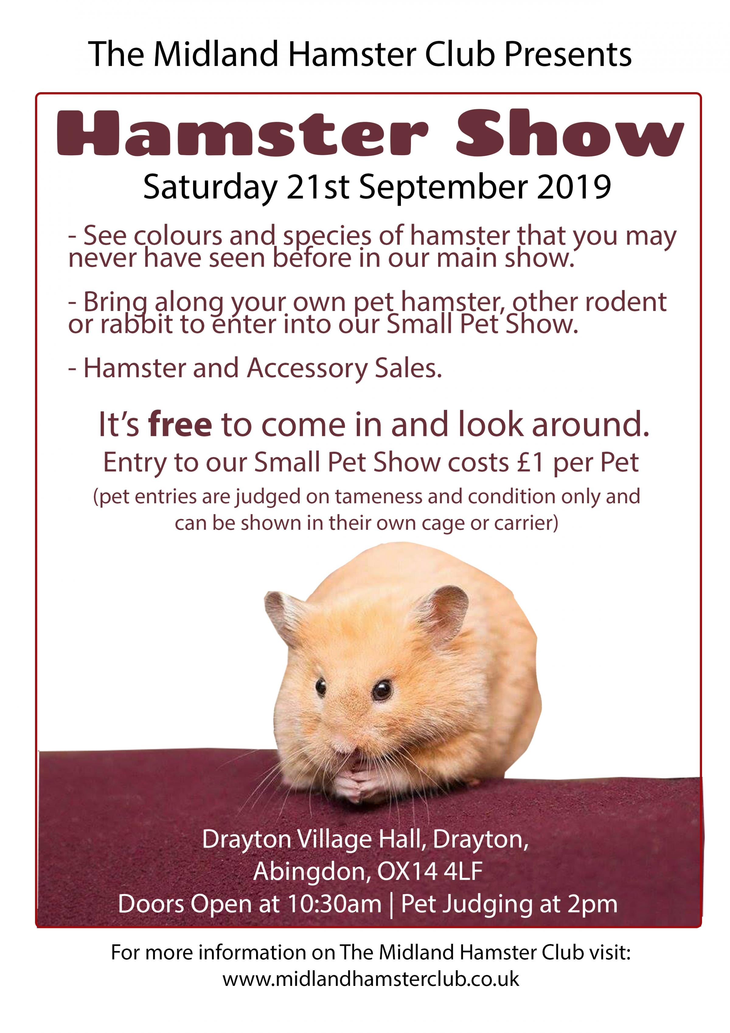 Drayton Hamster and Small Pet Show