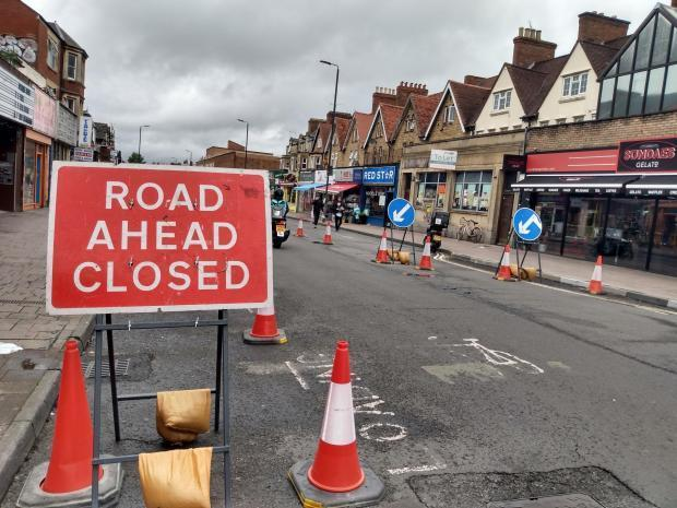 Cowley Road roadworks Picture Andy Ffrench
