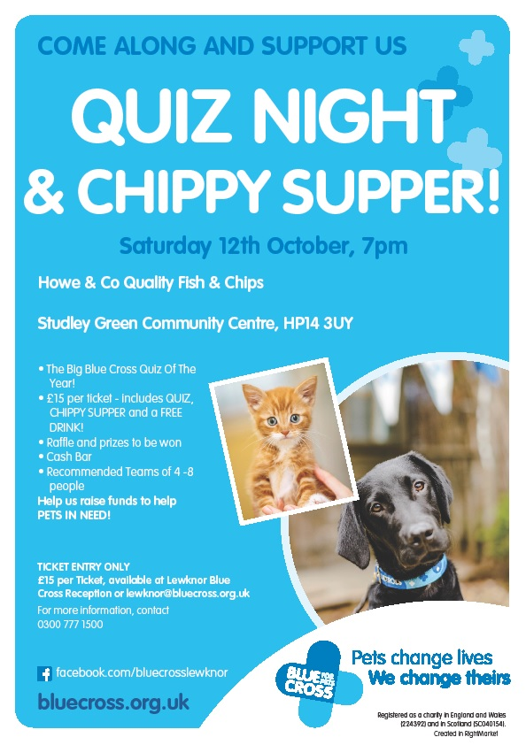 Blue Cross Quiz Night and Chippy Supper
