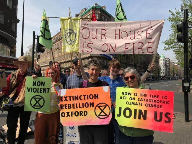 Extinction Rebellion protesters in Oxford
