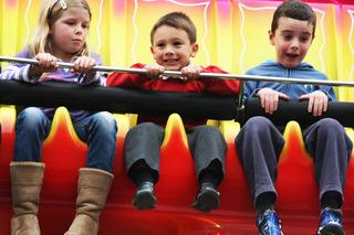 Children enjoy one of the rides