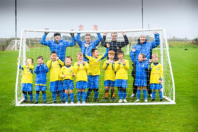 Children from Carterton FC youth club  (Under 7s)celebrating a fantastic year for the club