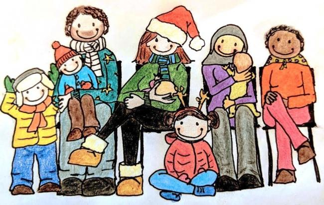 Christmas drawing. Picture: Oxfordshire Breastfeeding Support