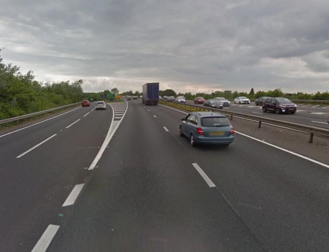 The A34 at the Peartree slip
