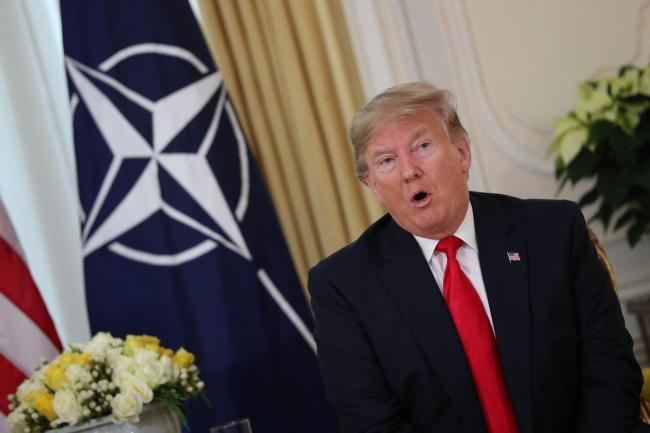 Donald Trump at Nato leaders' meeting
