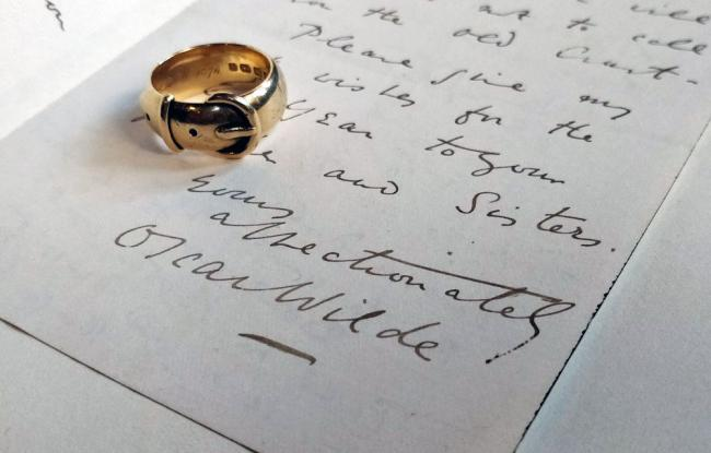 Oscar Wilde's ring Picture supplied by Magdalen College