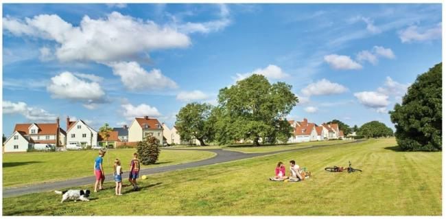 A proposed view for the 160 new homes in Eynsham. Picture: Curtin&Co