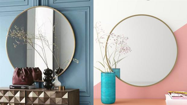 thisisoxfordshire: A bigger, more modern mirror will create the illusion of more space. Credit: Wayfair