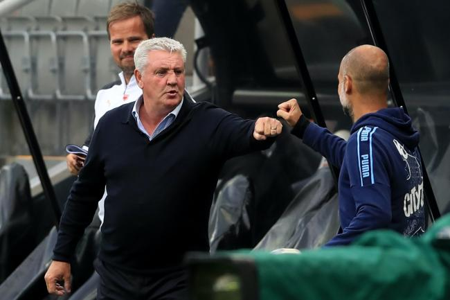 Newcastle head coach Steve Bruce (left) has warned his players to beware a Bournemouth backlash