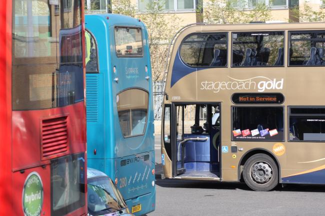 Buses in Oxford city centre. Picture: Oxfordshire County Council
