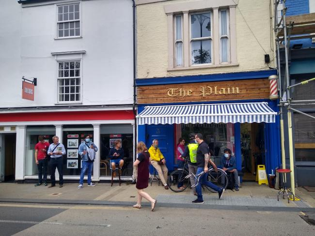 The Plain baber shop in Cowley. picture: Erin Lyons