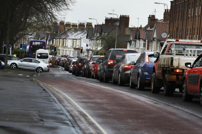 Traffic on a busy Botley Road in Oxford