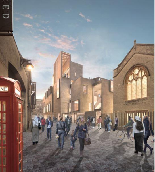 Northgate. View along Market Street including surgery entrance. Picture: MICA architects