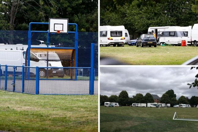 Caravans at Oxford playground and Wantage playing field. Picture:Ed Nix and reader