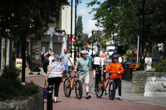 Bicester is one of three areas in Oxfordshire to receive funding to improve cycling and walking infrastructure. Picture by Ed Nix.