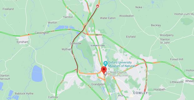 thisisoxfordshire: Pic: Google Maps Traffic Feed