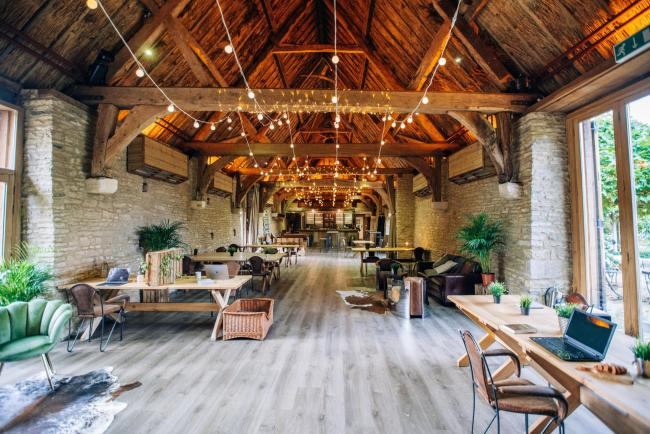 The Tythe Barn in Launton, Bicester has converted some of its barns into workspaces. Pic: The Tythe Barn.