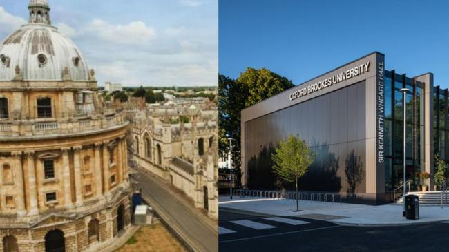 The University of Oxford and Oxford Brookes