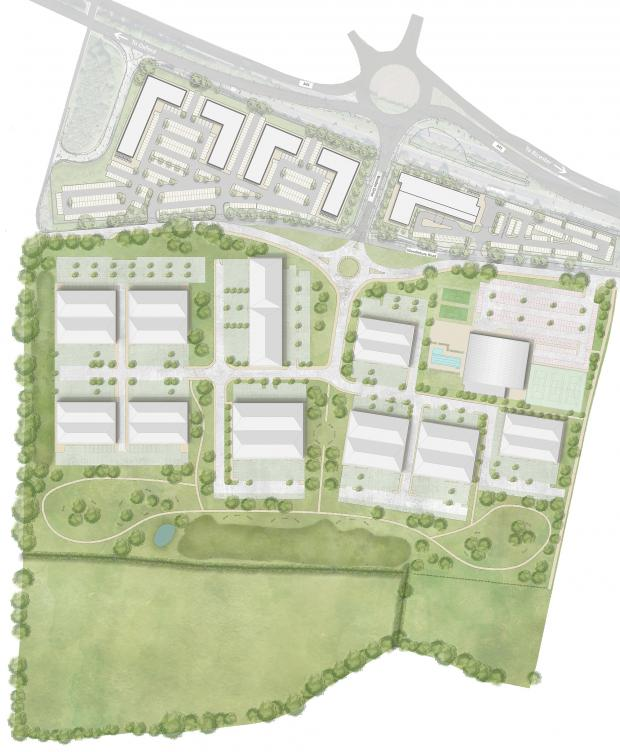 thisisoxfordshire: Illustration/map of what Catalyst Bicester will look like from above