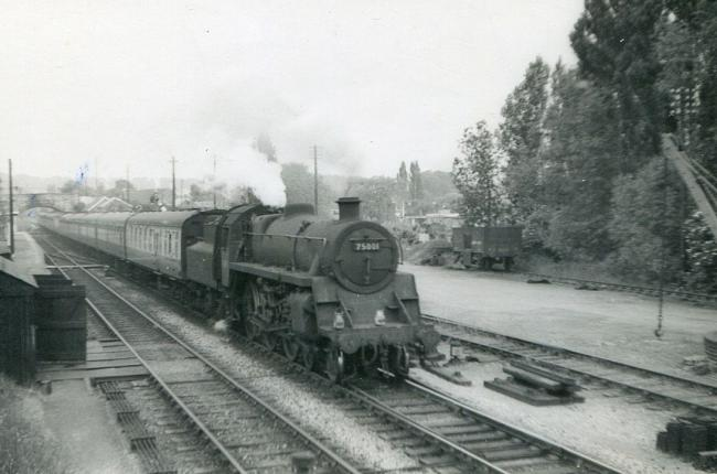 7    Steam engine No 75001 passes Wheatley with empty stock to London. Picture: Great Western Trust
