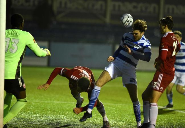 Harvey Bradbury scored twice as Oxford City staged a stunning comeback to beat Hemel Hempstead Town Picture: Mike Allen