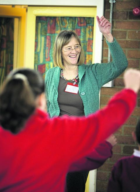 Dr Buffy McClelland at St John Fisher Primary School in Oxford. Pictures: OX50863 Damian Halliwell