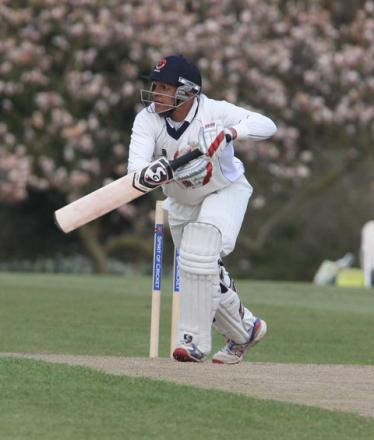 Sam Agarwal steers the ball onto the offide on the way to making 51 in Oxford MCCU's second innings
