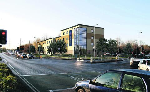 A computer generated image of the proposed Travelodge hotel