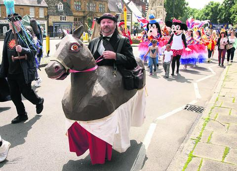 thisisoxfordshire: Hobby horses on the gallop for Olympic-style events