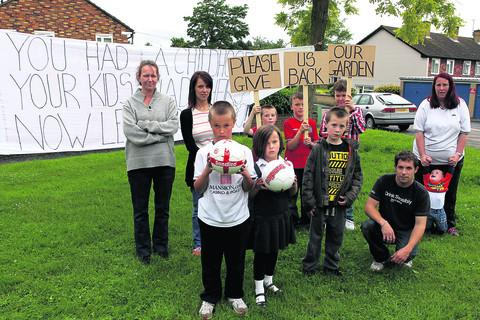 Back, left to right, Cathy Cartwright, Steffanie Anderson, Connor Hockin, nine, Max Cartwright, nine, brother Leigh, 11, and Ann Davey with baby Lucian Lloyd; front, left to right: Peter, 10, and Jodi Jones, six, Tyler Hockin, nine, and Kristian Lloyd