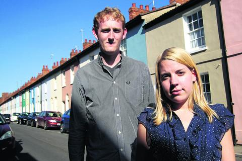 Holly Edmundson and partner Edward Gillespie in Observatory Street