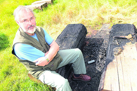 Yobs set fire to community wood's outdoor classroom