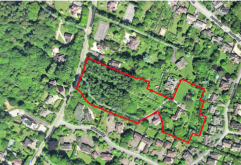 An aerial view of Larkbeare in Cumnor Hill