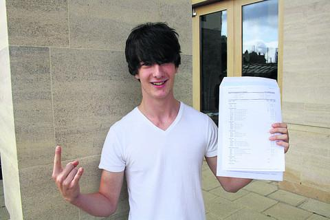 thisisoxfordshire: Harry Lingard-Bright with his results
