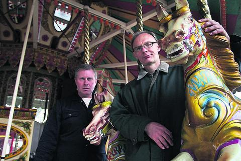 Oxford City Council fair co-ordinator Mike Newman, pictured right with Joey Noyce of the Showman's Guild