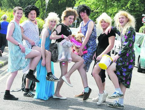 Life's far from a drag on a charity fun day