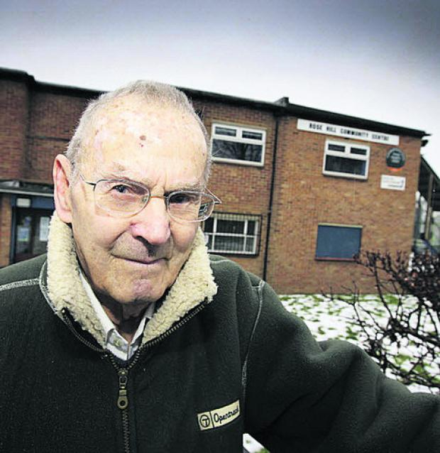 Bill Buckingham outside Rose Hill Community Centre