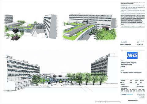 thisisoxfordshire: Artist's impressions of the proposed glazed reception area at the John Radcliffe Hospital