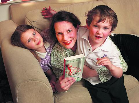 Alison Pindar with son Tom, five, and daughter Izzy, eight. Picture: OX54817 Antony Moore