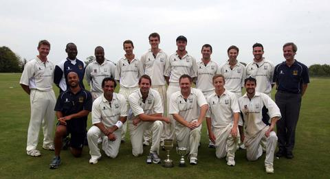 Oxford line up with the Bernard Tollett Oxfordshire Cup and the Wilf Bennett Trophy