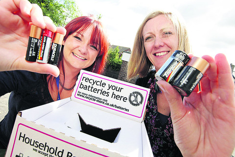 Residents given power to recycle batteries